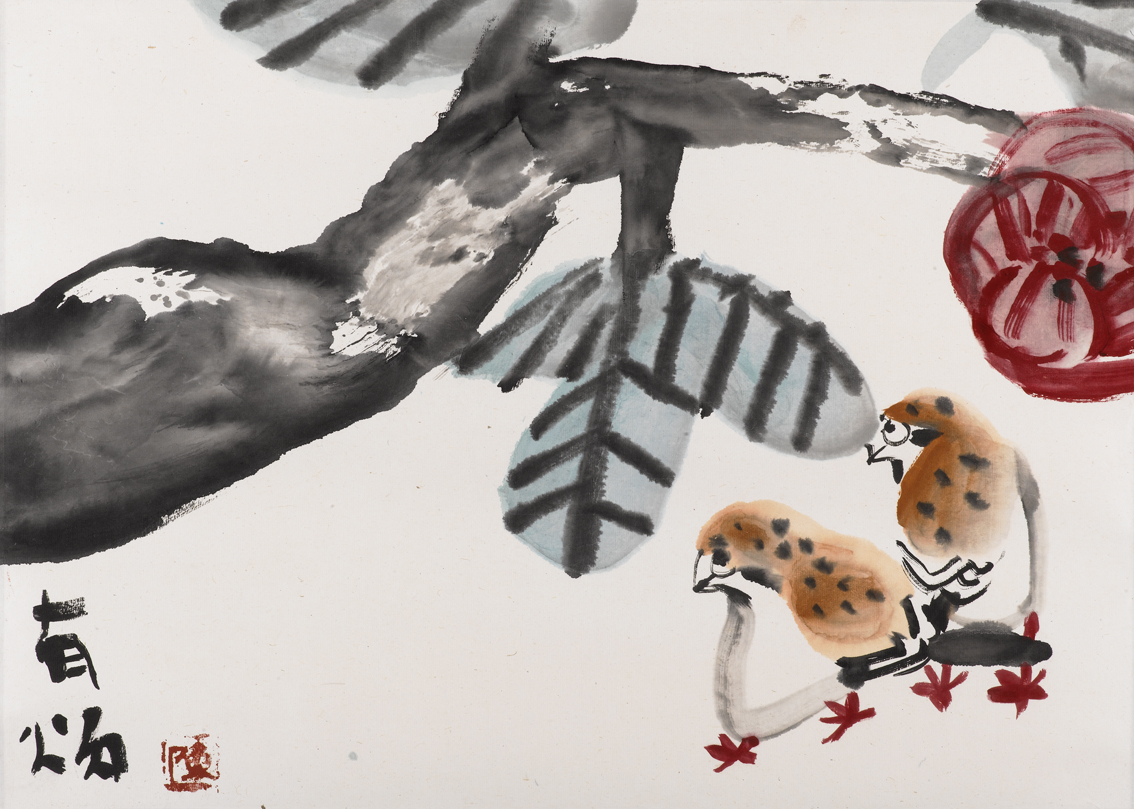 大芙蓉与雀 Lotus with Sparrows ()